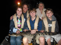 A family comes along for a crocodile encounter